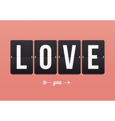 I love you mechanical panel letters vector
