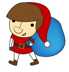 Christmas kid vector