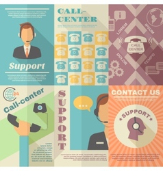 Support call center poster vector