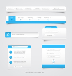 Web site navigation menu pack 2 vector