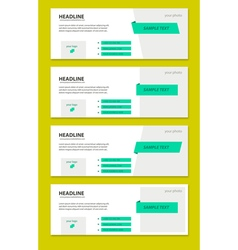 Set of facebook timeline covers vector