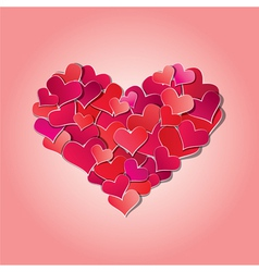 Valentines day or wedding background with red hear vector