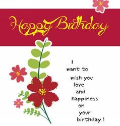 Happy birthday flower vector