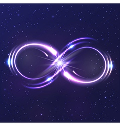 Neon light infinity symbol vector