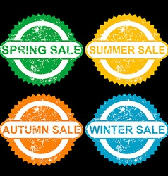 Rubber stamps with texr spring sale sumer sale vector