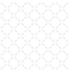 Dotted seamless pattern with circles and nodes vector