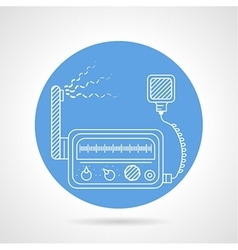 Vhf transmitter blue round icon vector