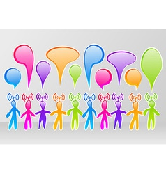 Social media community vector