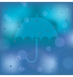 Umbrella icon on the window vector