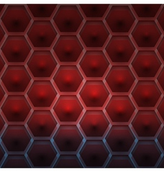 A pattern of hexagons vector