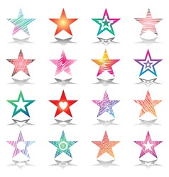 Stars design set vector