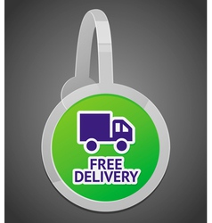 Sign with free delivery icon vector