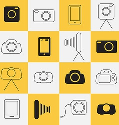 Photo - photography icons vector