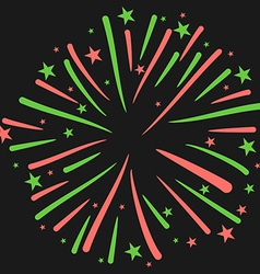 Firework on black background new year ce vector