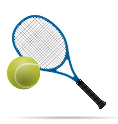 Racket and tennis ball vector