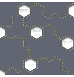 Geometric simple background with hexagons vector