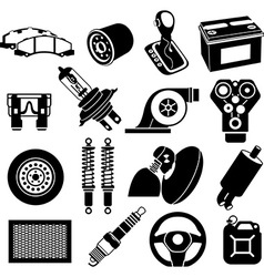 Car maintenance icons vector