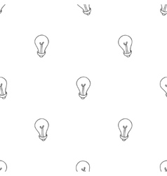 Hand drawn seamless pattern of light bulbs idea vector