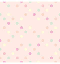 Tile polka dots on pastel pink pattern vector