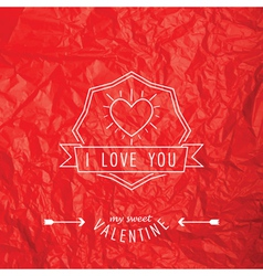 Valentines day card - with love quote vector