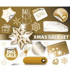 Christmas discount tickets vector