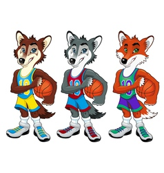 Basketball mascots vector