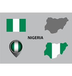 Map of nigeria and symbol vector