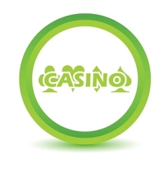 Casino volumetric icon vector