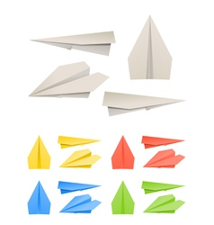 Colorful paper models of planes vector
