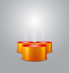 Christmas candles extinguished vector