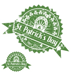 St patricks day stamps vector