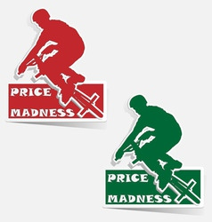 Madness bmx label sticker vector vector