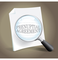 Reviewing a prenuptial agreement vector