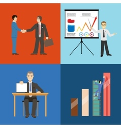 Business partnership agreement conclusion vector