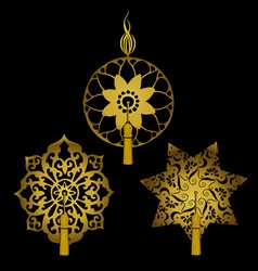 Set of decorative ornaments with tassels vector