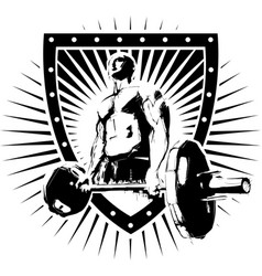 Igi bodybuilder shield vector
