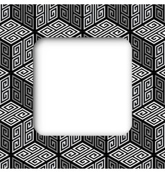 3d zig zag cubes frame banner vector
