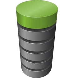 Layered cylinder vector