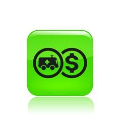 Ambulance cost icon vector