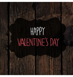 Valentines day card design wooden texture vector