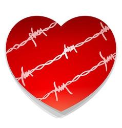Barbwire love heart vector