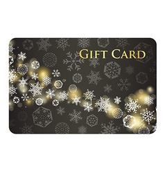 Exclusive charcoal christmas gift card with stream vector