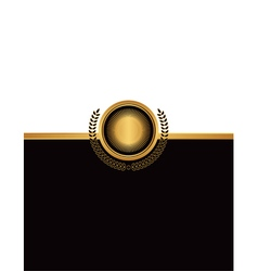 Golf emblem document background vector