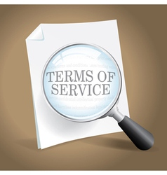 Reviewing terms of service vector