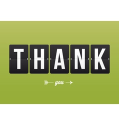 Thank you card mechanical panel letters vector