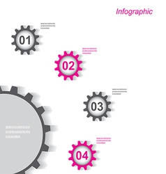 Infographic design with gear chain vector