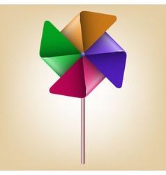 Colorful pinwheel windmill vector