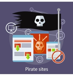 Pirate sites concept vector