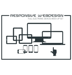 Flat responsive design kit vector