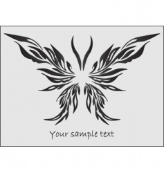 Stylized butterfly vector